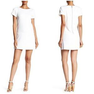 Alice + Olivia Liv Drop Waist White Mini Dress 0